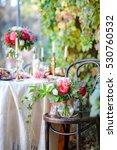 creative flower vintage wedding ... | Shutterstock . vector #530760532