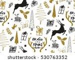 vector xmas seamless pattern... | Shutterstock .eps vector #530763352