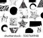 abstract textured geometric... | Shutterstock .eps vector #530764948