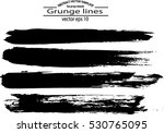 set of grunge brush strokes | Shutterstock .eps vector #530765095