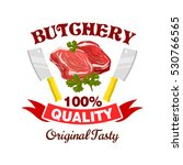 butcher shop badge. fresh pork  ... | Shutterstock .eps vector #530766565