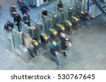 ticket gates at the entrance of ... | Shutterstock . vector #530767645