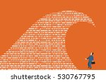 big data. a wave of a computer... | Shutterstock .eps vector #530767795