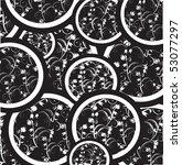 decorative flowers in black... | Shutterstock . vector #53077297