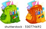 illustration of full backpack... | Shutterstock .eps vector #530774692