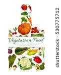 vegetables poster in shape of... | Shutterstock .eps vector #530775712