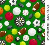 sport ball pattern. vector... | Shutterstock .eps vector #530775736