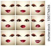 set of vector portraits of sexy ... | Shutterstock .eps vector #530776636