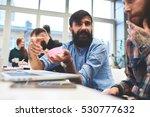 professional business hipster... | Shutterstock . vector #530777632