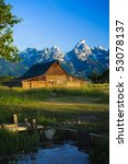 A Mormon Barn In Grand Teton...