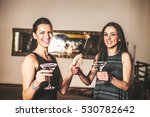 girls having party on the new... | Shutterstock . vector #530782642