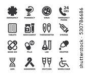 set of black flat symbols about ... | Shutterstock .eps vector #530786686