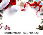 christmas gift  decorations and ... | Shutterstock . vector #530786722