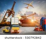 logistics and transportation of ... | Shutterstock . vector #530792842