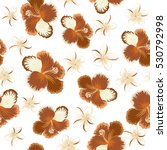 seamless pattern of tropical... | Shutterstock . vector #530792998