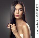 beautiful long hair. beauty...   Shutterstock . vector #530793172