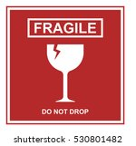 fragile sign vector