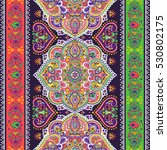 indian floral paisley medallion ...   Shutterstock .eps vector #530802175