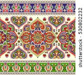indian floral paisley medallion ... | Shutterstock .eps vector #530802232