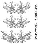 laurel wreaths. vector set of... | Shutterstock .eps vector #530802346