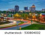 Small photo of Greensboro, North Carolina, USA downtown skyline.