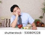 man has no appetite | Shutterstock . vector #530809228
