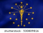 flag of the us state of indiana.... | Shutterstock . vector #530809816