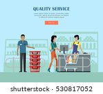 quality service concept web... | Shutterstock .eps vector #530817052