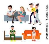 people using smartphone | Shutterstock .eps vector #530817238