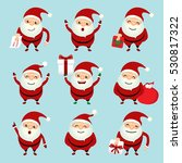collection of christmas santa... | Shutterstock .eps vector #530817322