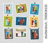 family portrait set. happy... | Shutterstock .eps vector #530818132