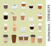 set of coffee types and... | Shutterstock .eps vector #530818195