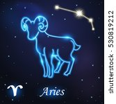 Light Symbol Of Aries And Ram...