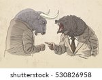Bull And Bear For Trader  In...