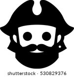 pirate icon | Shutterstock .eps vector #530829376