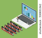 business seminar on line | Shutterstock .eps vector #530831362