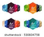 vector geometric option... | Shutterstock .eps vector #530834758