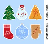set of color christmas and new... | Shutterstock . vector #530837086