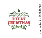 merry christmas label and badge | Shutterstock . vector #530843302
