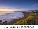 sunset in pacific ocean  hwy1 ... | Shutterstock . vector #530860042