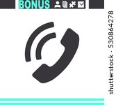 telephone receiver vector icon. | Shutterstock .eps vector #530864278