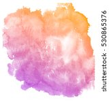 abstract purple watercolor on... | Shutterstock . vector #530865376