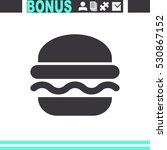 burger vector icon. fast food... | Shutterstock .eps vector #530867152