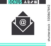 email vector icon. | Shutterstock .eps vector #530867842