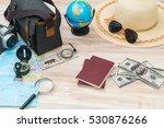 travel preparation   compass ... | Shutterstock . vector #530876266