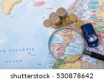 car budget for travel in europe | Shutterstock . vector #530878642