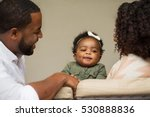 happy family with their baby. | Shutterstock . vector #530888836