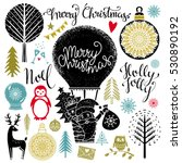 christmas and new year hand... | Shutterstock .eps vector #530890192