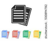 document vector icon.... | Shutterstock .eps vector #530894782