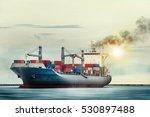 international container cargo...   Shutterstock . vector #530897488